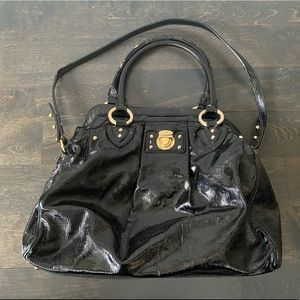 MARC JACOBS Black Patent Handbag